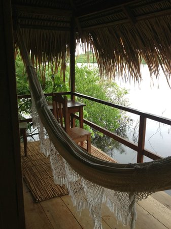 Juma Amazon Lodge: Vista da varanda da cabana especial