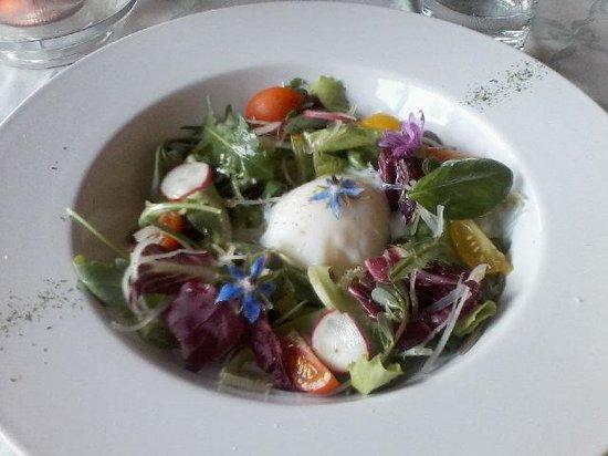 Ristorante Bandini : Nido di misticanza con uovo barzotto