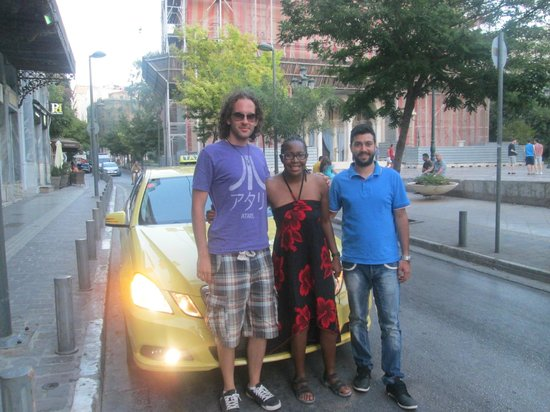 Greece Taxi: Achilles myself and Kris