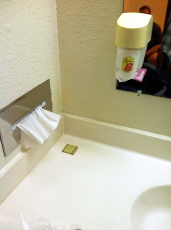 Motel 6 Saukville : Sad little soap, no soap dish at this hotel.