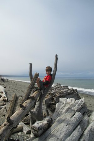 Dungeness National Wildlife Refuge: playing on the beach