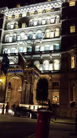 The Langham, London: Outer look at night