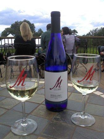 M Cellars: Wine on the patio