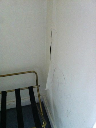 Cae Mor Hotel : torn off wall covering