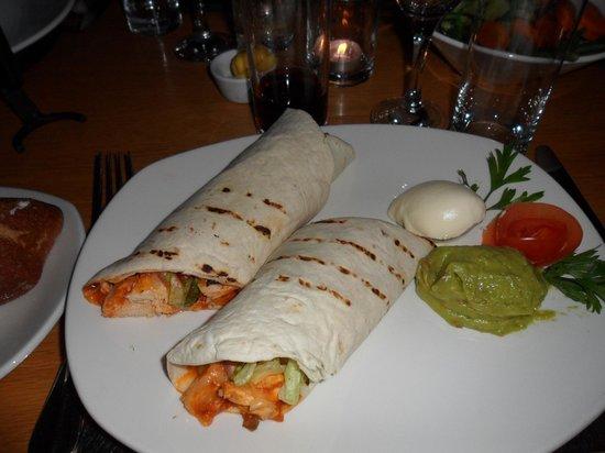 The Inn Restaurant : Chicken wrap, yummy