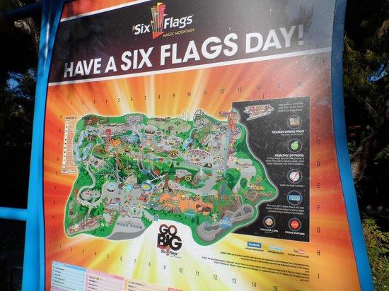 Park map fotografa de six flags magic mountain santa clarita six flags magic mountain park map gumiabroncs Images