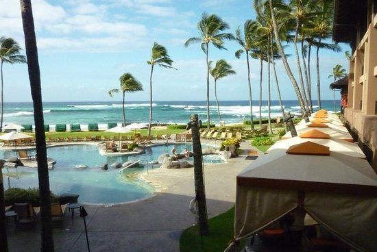 Sheraton Kauai Resort : pool overlooking ocean