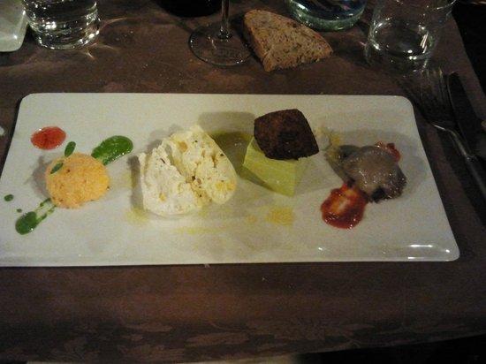 Agriturismo Sapereta: Antipasto vegetariano (13 euro)