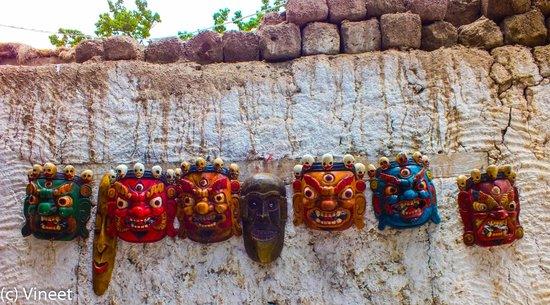 Alchi Choskor Monastery: protector masks