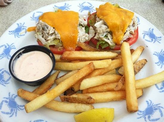 Waterman's Surfside Grille: Crab Melt