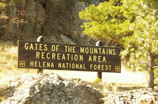 Gates of the Mountains sign