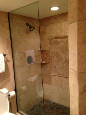 Lakeside Village: glass shower
