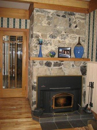 Gite les Petites Mesanges : accessible fireplace