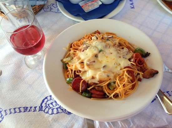 "The Volcano Restaurant-Taverna: Спагетти ""Volcano"""