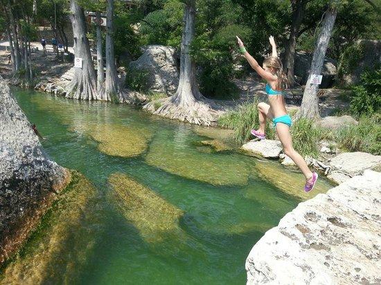 Frio Country Resort: Jumping rock at Buchanan's