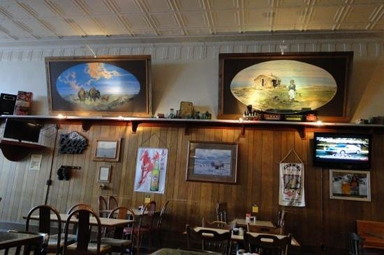 Western Kansas Saloon And Grill Two Of The Six Original Paintings