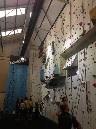 Boulders Indoor Climbing Centre : nearly at the top!