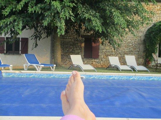Hotel Le Coulier: Piscine vue hôtel