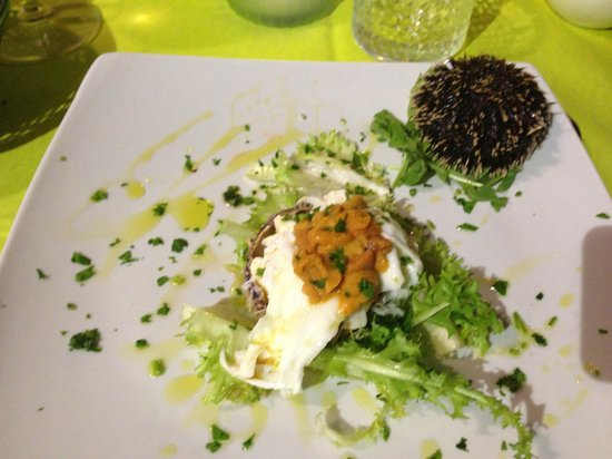 Osteria AmUni': Egg and Sea Urchins