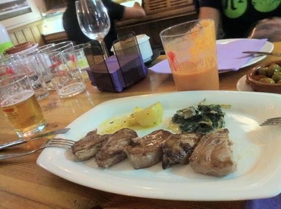Restaurante Ramon Pipi : Morrillo a la plancha. En su punto.
