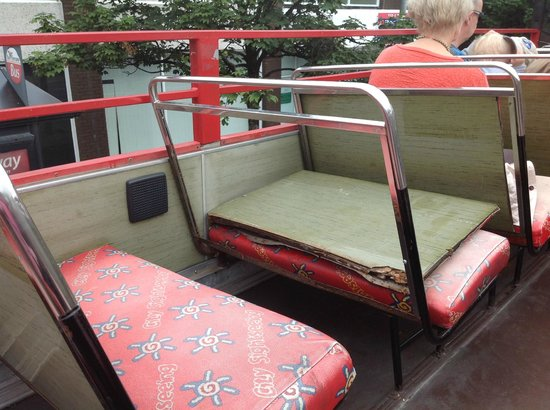 Red Viking Tour: Back of one of the seats out of position