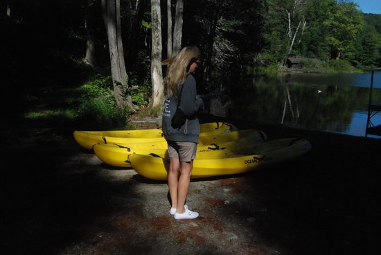 Northern Outdoors Adventure Resort : Free Kayaks for Your Use
