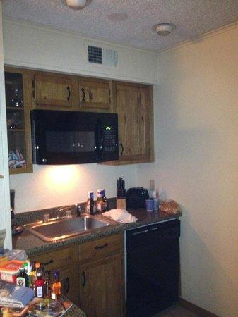 Christie Lodge: kitchen area
