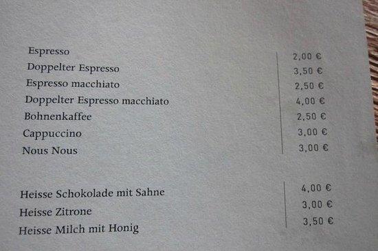 Speicher7 Hotel: Speisekarte
