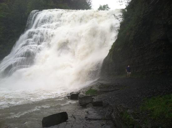 The Statler Hotel at Cornell University: Ithaca Falls up close and personal...