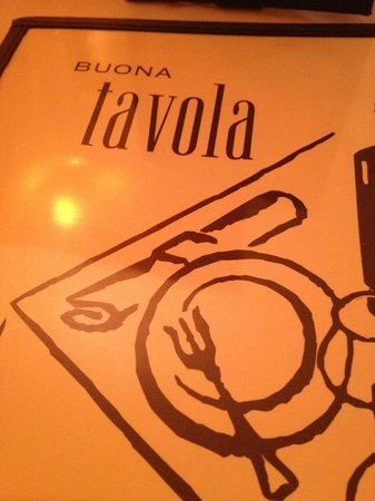 Buona Tavola: menu