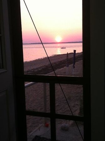 Days' Cottages : view from the dinner table (through the screen door)