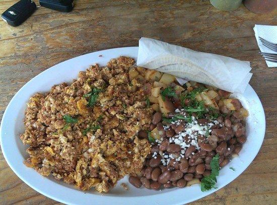 La Mission Mexican Grill : Breakfast chorizo and eggs