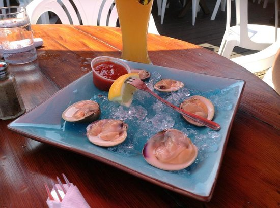 Maguire's Bay Front Restaurant : Raw clams appy