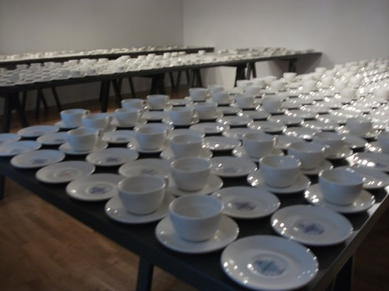 The Foundling Museum: Clare Twomey Good Deed Exchange cups and saucers