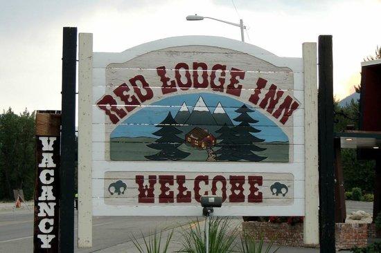 The Red Lodge Inn: Red Lodge Inn sign