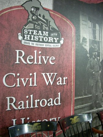 Steam into History: Poster in gift shop