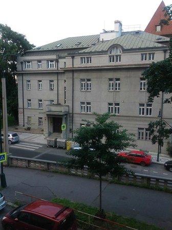 Janacek Palace Residence: View across from balcony