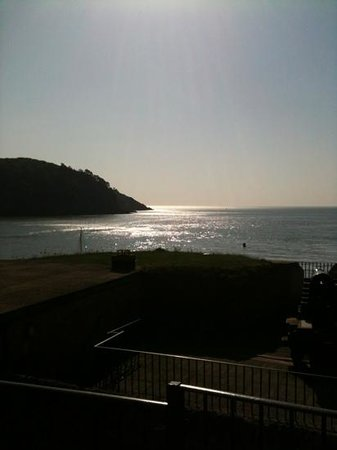 Dartmouth Castle Tea Rooms : Morning view from the castle tearooms