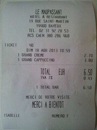 Brasserie Le Maupassant: SCANDALOSO