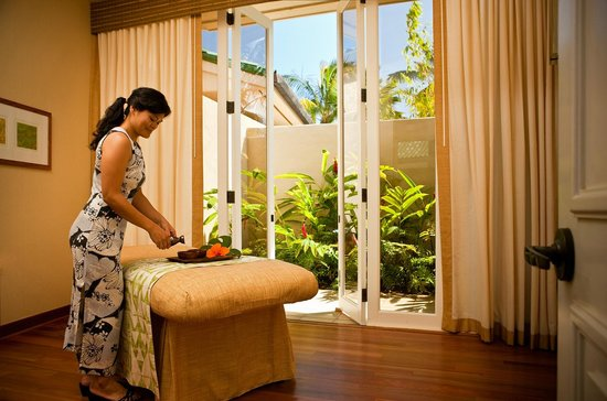 Anara Spa: Treatment Rooms open to private garden
