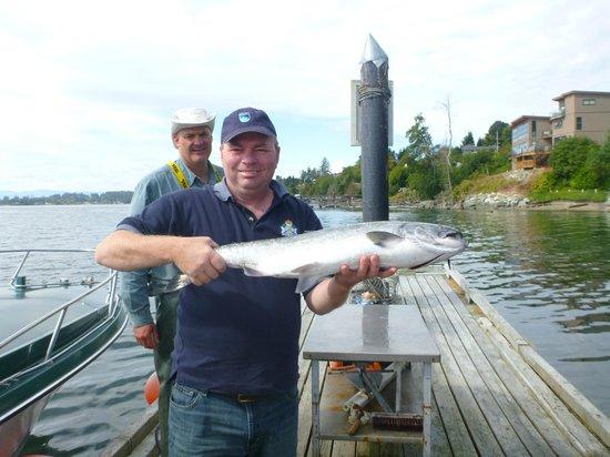 VIP Fishing Charter: Huge Chinook I caught.