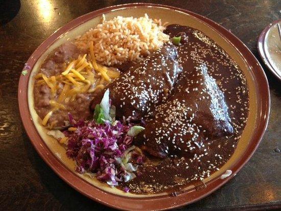 Mole Poblano Over Veggie Enchiladas Picture Of Casa Tina