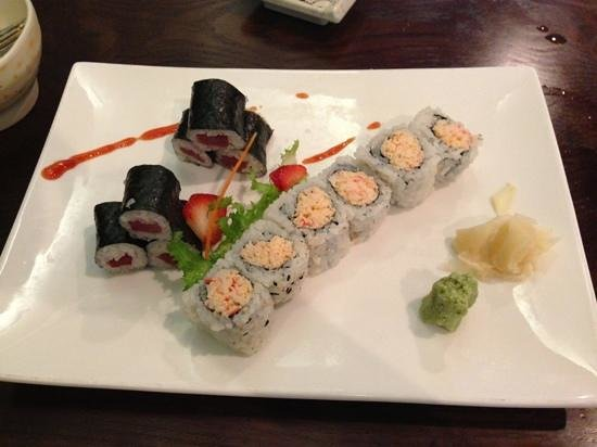 Aya Japanese Steakhouse: tuna roll & Alaskan crab roll