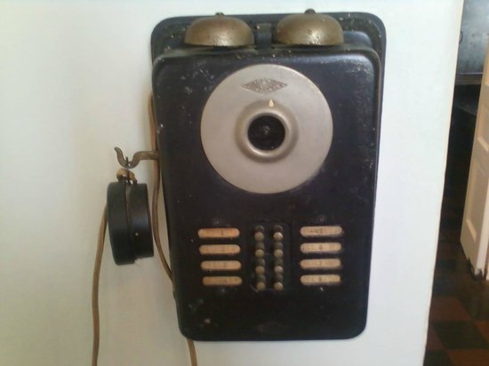The President Woodrow Wilson House: Intercom in kitchen area