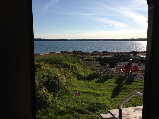 Bar Harbor Campground KOA: view out our camper door