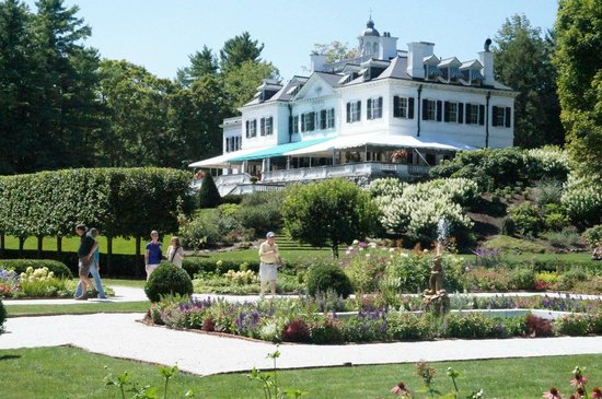 The Mount: The house looking from the flower garden