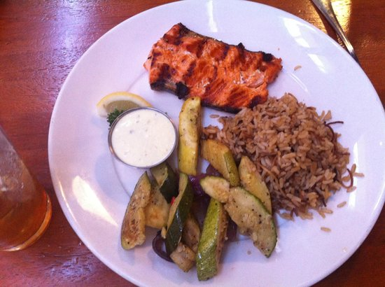 The Fish Market: Oregon King Salmon, Rice Pilaf and Roasted Veggies