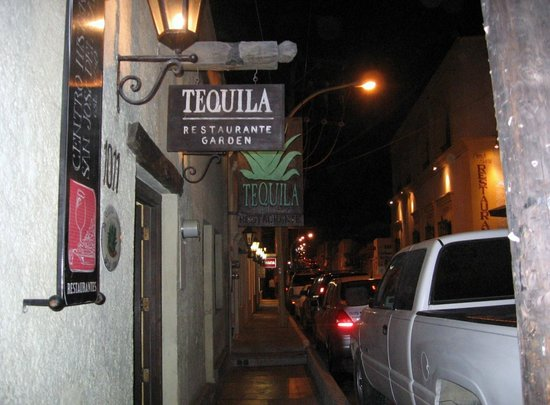Tequila : Outside the restaurant