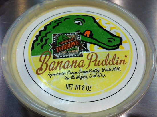 Uncle Darrow's Banana Puddin' container lid