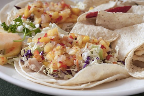 Hobee's Restaurant : Shaka tacos with fresh mahi mahi and mango salsa are a customer favorite.
